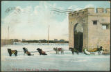 128 - Fort Garry Gate & Dog Train, Winnipeg.