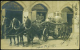 [Early Horse-Drawn Steam-Powered Pumper]
