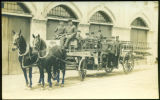 [Horse-Drawn Ladder Truck]