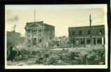 [Riverview Hotel Fire, 1918 - Looking East]