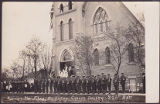 Raising the Flag, Anglican Church, Dauphin, 226th Batt, May 28, 1916